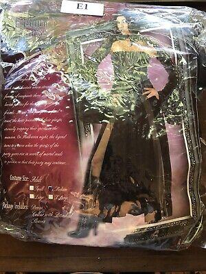 Adult Medium Baroness Von Bloodshed Mayhem Mansion Halloween Costume Goth 2005