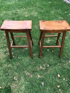 Timber stools
