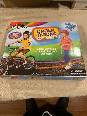 Cra-Z-Art Chalk Tracks Attaches to Bike Scooter Create Paint Drawing Kids Toys