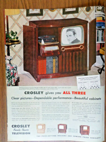 1951 TV Television Ad Family Theatre TV Clear Pictures Dependable Beautiful