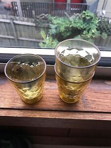 3 yellow bed bath n table tea light cups Heidelberg Banyule Area Preview