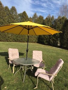 Patio and umbrella Waterford
