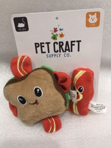 Brand New Pet Craft Supply Co. Crinkle Pouncing Cuddling BLT Catnip Toy - $7.00