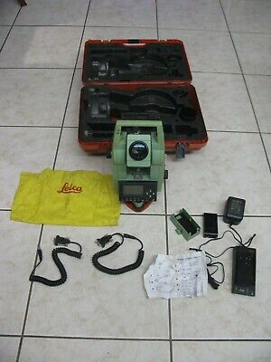 Leica Tcr307 Surveying Total Station W Case And 2 Battery Tcr-307