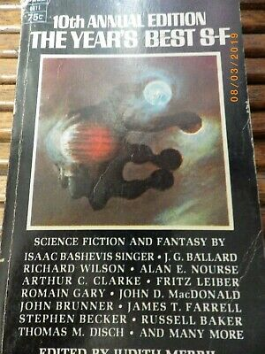 10th Annual Ed The Year's Best SF 1966 Scifi Action Adventure Fantasy