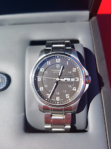 Victorinox Swiss Army Officers Watch in display case Albany Creek Brisbane North East Preview