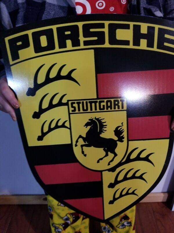 PORSCHE 911 SHIELD ADVERTISING SIGN