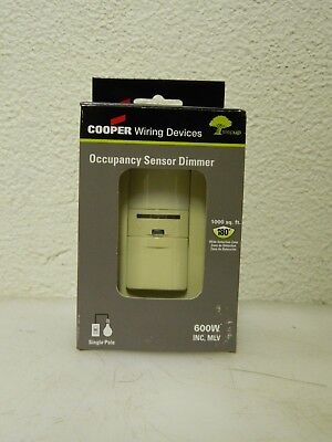 Cooper Infrared Occupancy Sensor Wall Switch 1000 Square Ft. Coverage Os106d1-v