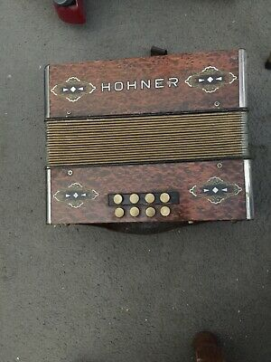 Accordion Hohner 2 row early inst.1925-1940 diatonic, key G/C w chin accIdentals