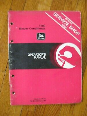 John Deere 1209 Mower Conditioner Operators Manual Original