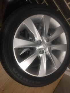 4x NEW 2017 16x6.5 +52 ET 4x100 PCD Hyundai OEM Alloy Wheels