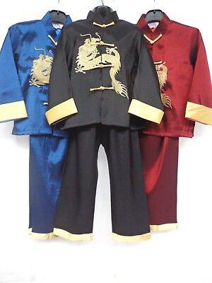 Children's(BOYS) Oriental Japanese Chinese Kimono Style Pyjama 2-3 to - Pyjama Boy Kostüm