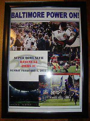 Baltimore Ravens 34 San Francisco 49ers 31 - 2013 Super Bowl - framed print