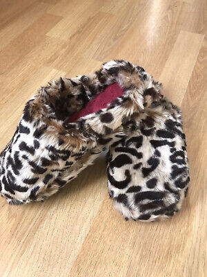 Totes Isotoner Pillowstep Women's Mule Slipper Leopard/Dark Red Size Small 3-4