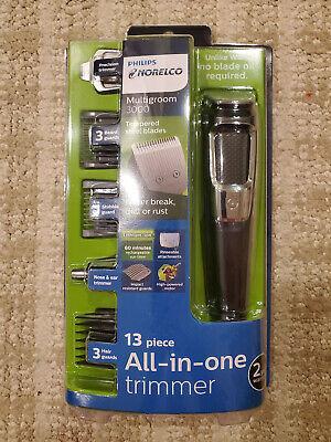 Philips Norelco Multigroom 3000 Multipurpose Trimmer for Men *IN HAND* MG3750/60