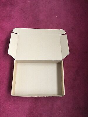 10 x BROWN FOLDING LID SELF SEAL CARDBOARD POSTAL BOXES 13.5 x 9.5 x 2.5 Inches