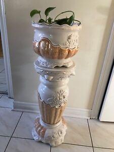 Ceramic Flower Vase Stand Floral Decor