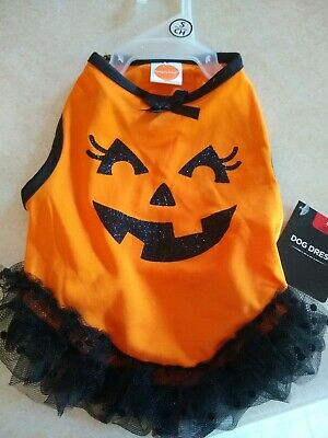 1 Small Pumpkin Dog Dress    *Free S/H when u buy 6 items from my