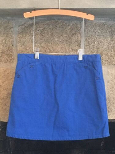 EUC Strasburg Girls 14 Adj. Waist Cotton Blue Classic Retro Skooter Skirt Skort
