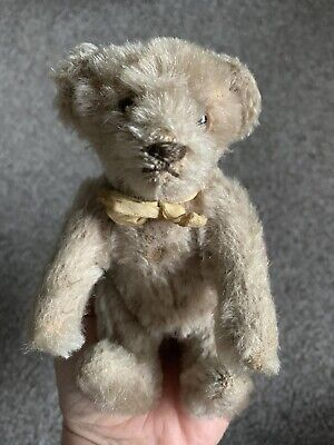 "Antique Vintage 6"" STEIFF MOHAIR JOINTED BEAR TOY ANIMAL  NO ID Lt Brown"