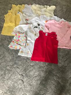 Girls size 6 and 7 bundle of skirts , shirts and dresses