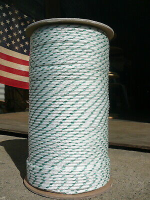 """Sailboat Rigging Rope 3//16/"""" x 50/' Red//White Double Braided Sheet Halyard Line"""