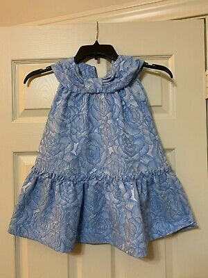 Pre-Owned Mimisol Girls Blue Floral Dress Size 6