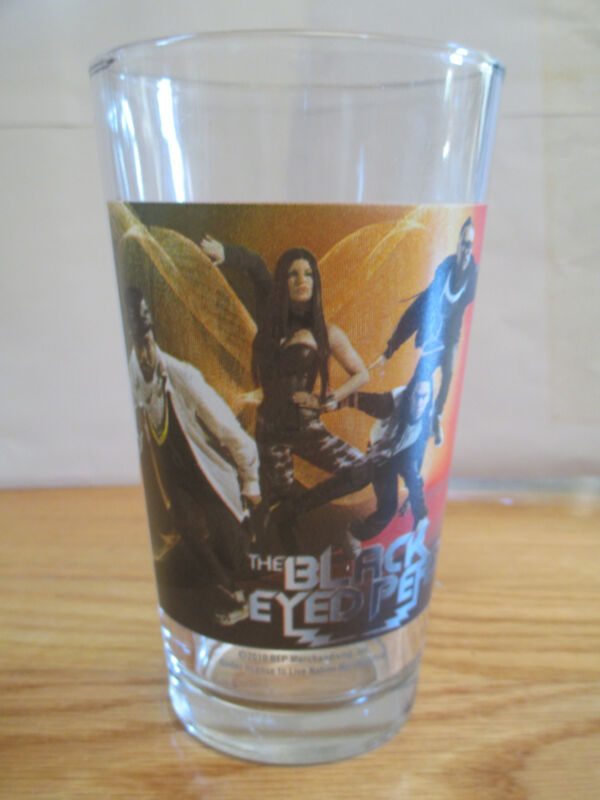"""THE BLACK EYED PEAS 6"""" Beer Glass #2"""