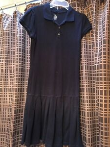 Uniform polo navy dress
