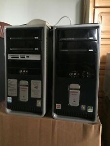 Two running Compaq desktops with accessories, $40 each