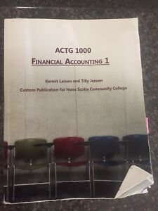 NSCC 1st year accounting 1 textbook