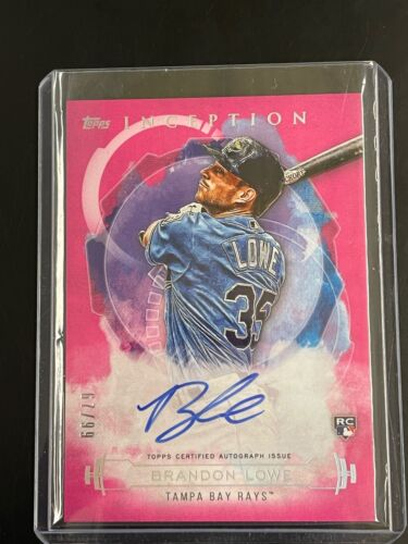 QTY Rays 2019 Finest Brandon Lowe ROOKIE Auto Refractor RED HOT!!!
