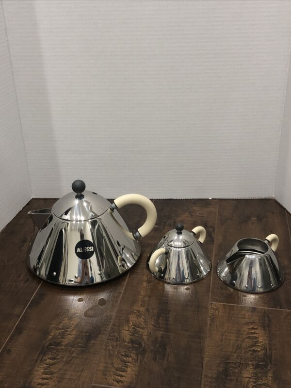 ALESSI By Michael Graves Tea Pot , Creamer and Sugar Bowl