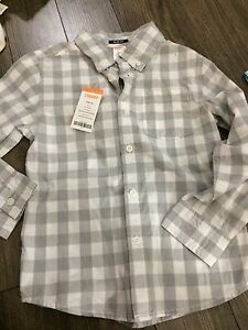Gymboree boys new 5-6 dress shirt corton