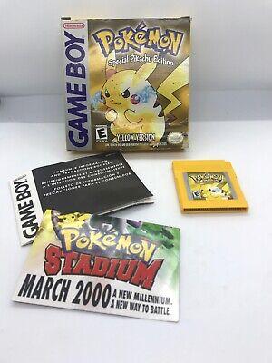 Pokemon Yellow Version (Nintendo Game Boy) Box Game And Incerts Rare