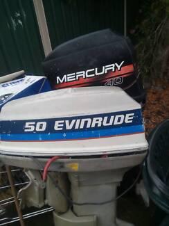50 evinrude and mercury 40 forsale minor tlc