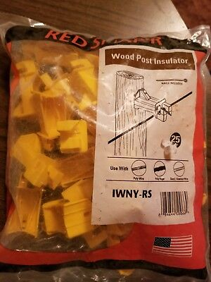 Redsnapper Wood Post Insulators 4 Bags