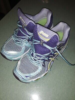 Womens ASICS gel nimbus 16 size 7.5 turquoise and purple running