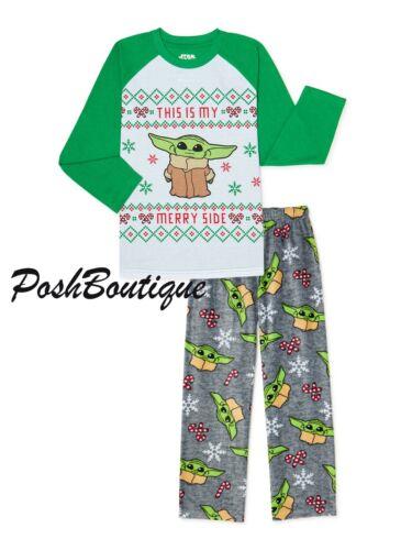 Kids Baby Yoda Mandalorian Pajamas Pants Shirt Star Wars Boy Girl 4 6 7 8 10 12
