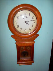 28 Ducks Unlimited Vintage Wood Wall & Mantle Pendulum Clock Extremely Rare!!!!