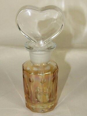 Glass Hearty Silver Mounted Beautiful Moser Bohemian Cut Engraved Amber Glass Decanter