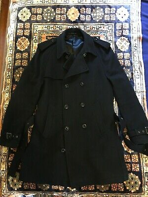 Tiger of Sweden Delcourt 7 wool trench coat black size 44