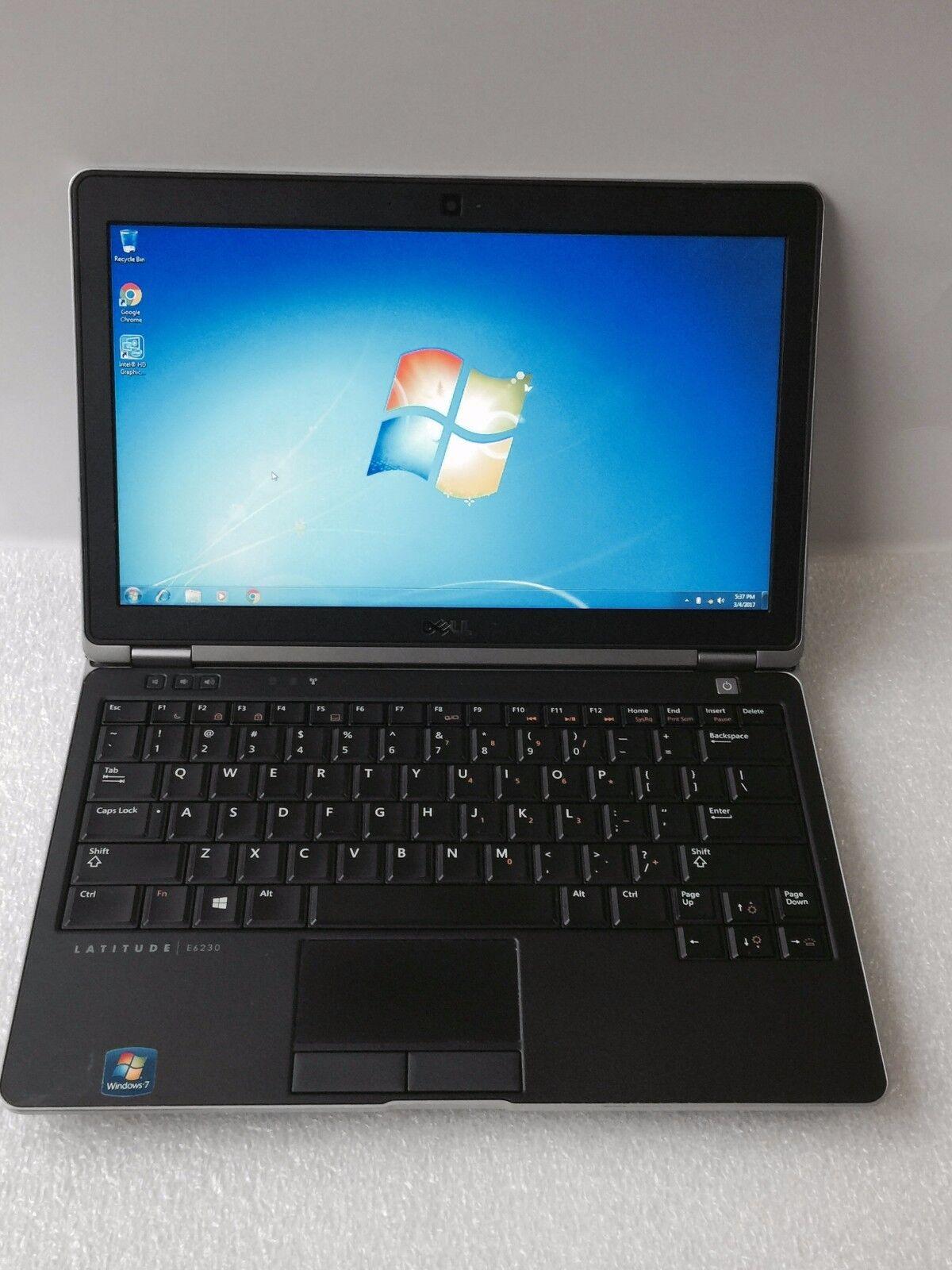 Dell Latitude E6230 i5-3320M 2.6GHz 4GB 500gb Backlit Wireless Win 7 Slim Laptop
