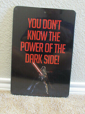 STAR WARS Two-Sided Wall Sign ~ Ideal For Bedroom Decor ~ Darth Vader](Star Wars Bedroom Decorations)