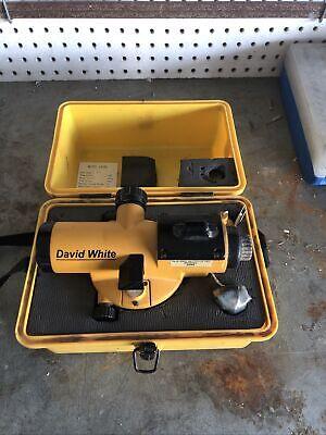 David White Al8-26 26x Power Automatic Optical Surveying Transit Level W Case