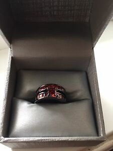 BEAUTIFUL***2-Piece Red Ruby Sapphire Ring Set!!