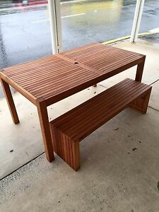 3 - Piece Wooden Table and Bench Set ( near new) Newmarket Brisbane North West Preview