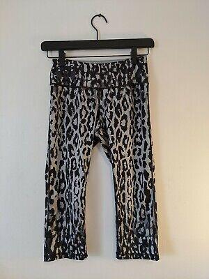 Z By Zella Women's Black Camo Leopard Print Legging Capri Size XS
