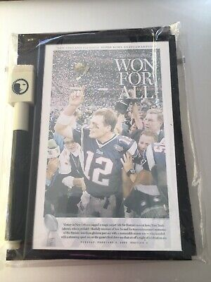 Tom Brady Dry Erase Magnetic Refrigerator Message Board Home Set Rare