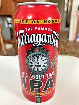 Narragansett Beer It's About Time I.P.A. 16oz Can Shepard Clock Rhode Island